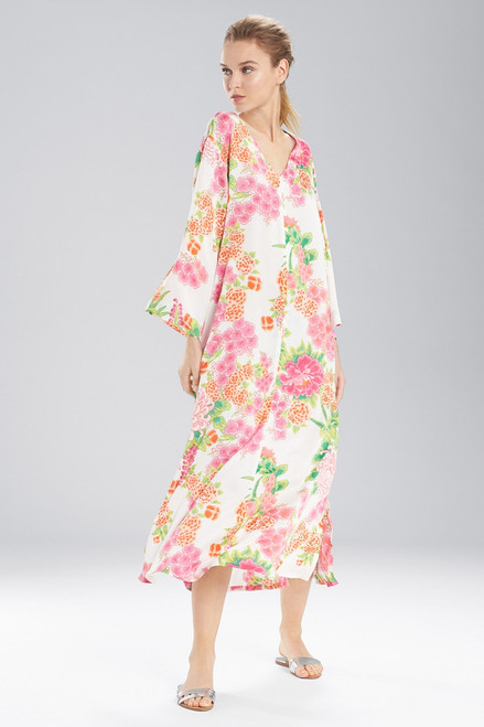 Buy N Natori Majestic Garden Zip Caftan from
