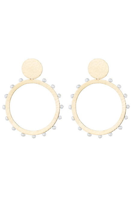 Buy Josie Natori Brass & Mother of Pearl Earrings from