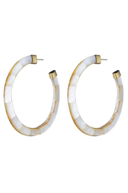 Buy Josie Natori Mother of Pearl Hoop Earrings from