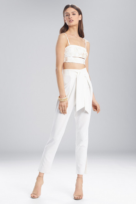 Buy Josie Natori Core Crepe Front Tie Pants from