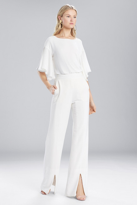 Buy Josie Natori Core Crepe Front Slit Pants from