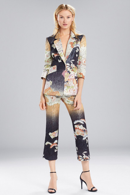 Buy Josie Natori Scenery Metallic Jacquard Blazer from