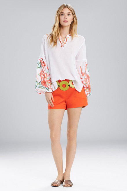 Buy Natori Lucia Peasant Blouse Tunic from