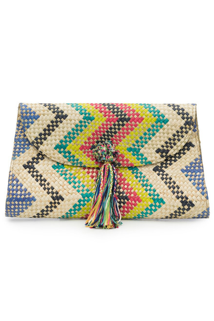 Buy Natori Woven Chevron Print Clutch from
