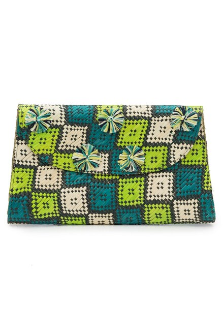 Buy Natori Woven Square Print Clutch from