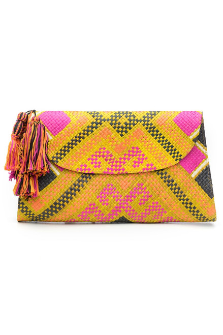 Buy Natori Woven Diamond Print Clutch from