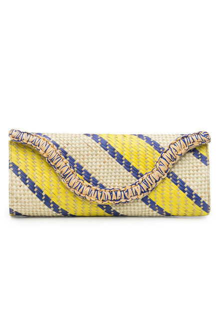 Buy Natori Woven Striped Print Clutch from