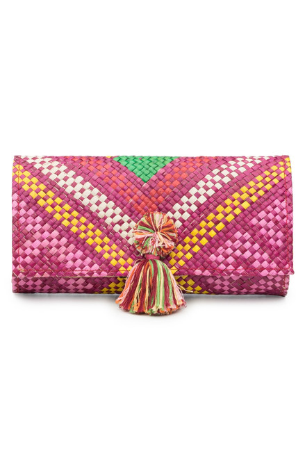 Buy Natori Woven Geo Print Clutch from