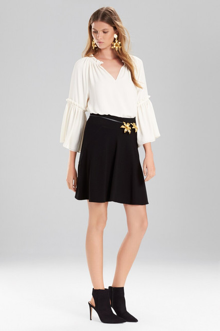 Buy Josie Natori Solid Silky Soft Peasant Top from