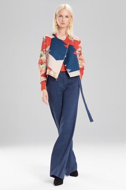 Buy Josie Natori Kimono Patchwork Crop Jacket from