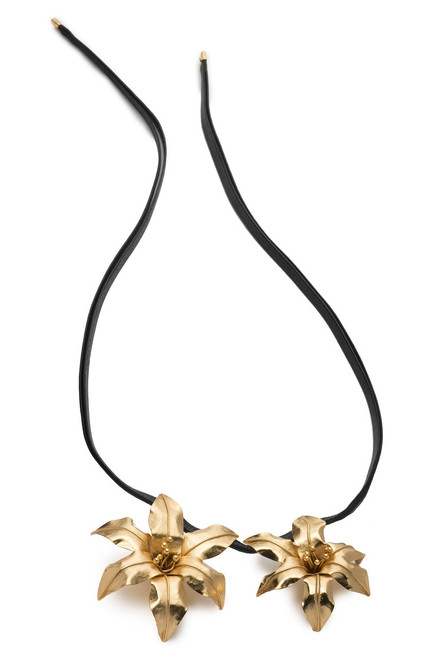 Buy Josie Natori Brass Double Floral Necklace from