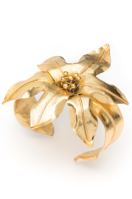 Buy Josie Natori Brass Floral Bracelet from