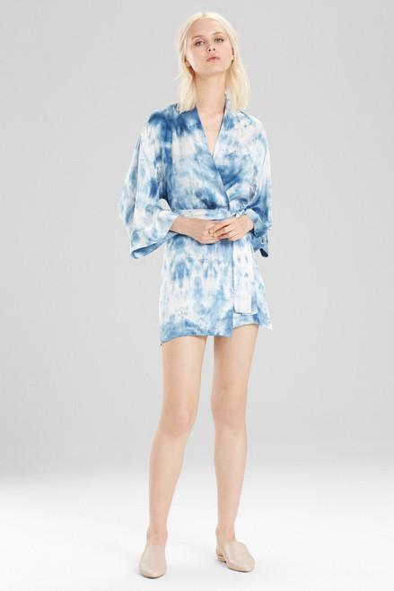 Josie Natori x Upstate Lolita Wrap - Blue Multi at The Natori Company