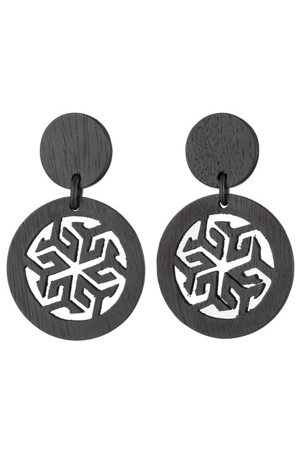 Buy Josie Natori Horn Round Drop Earrings from