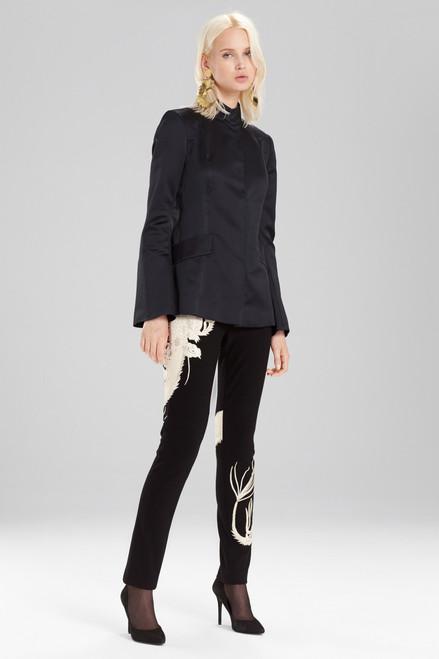 Buy Josie Natori Fluid Satin Mandarin Jacket from