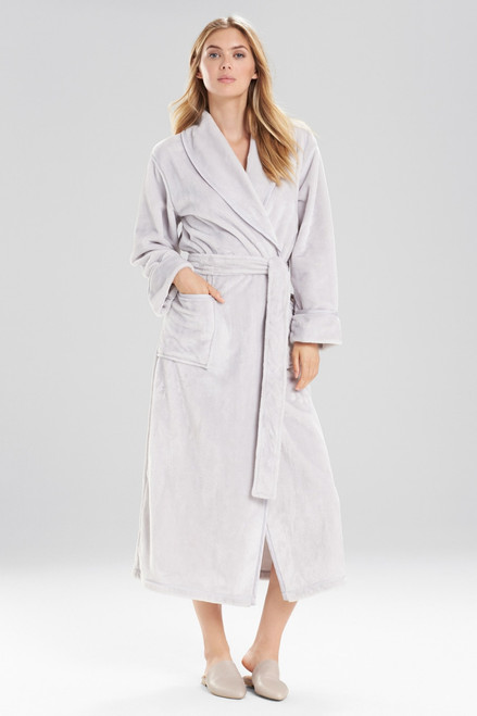Buy Natori Plush With Satin Twill Robe from