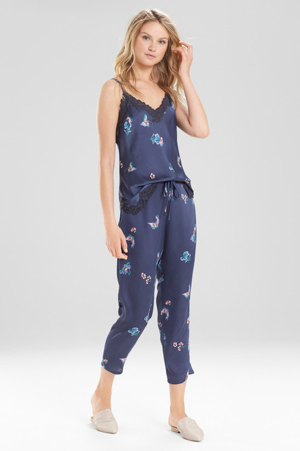 Buy Natori Papillon Printed Feathers Satin Pants from