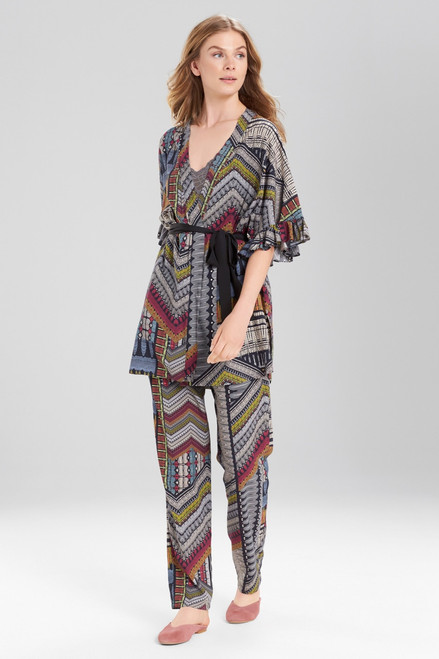 Josie Boheme Wrap Black Multi at The Natori Company