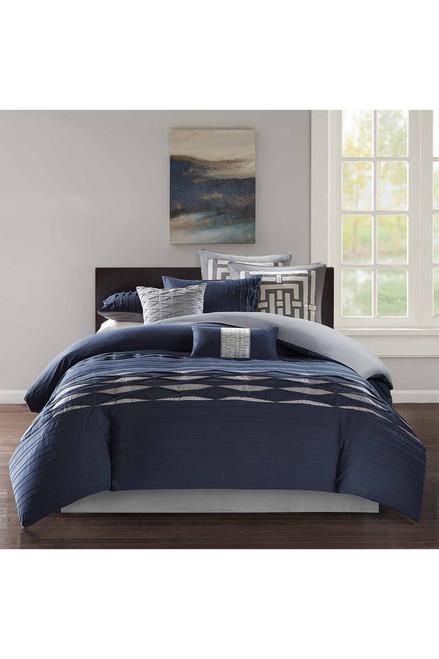 Buy N Natori Nara Navy Comforter Set from