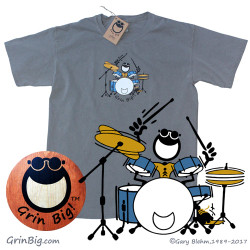 Men's Cotton Drummer T-Shirt is a great way to spread the power of optimism and positive vibes with the rhythm of positivity in a true rock n roll tee shirt that will leave your fans wanting more.