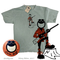 Men's Outdoors Hunter hunting t-shirt for the wildlife conservationist.