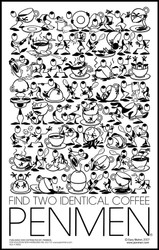 Find Two Identical Coffee PENMEN®  - 11 x 17