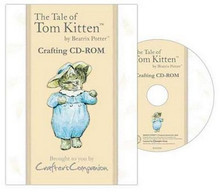Beatrix Potter The Tale of TOM KITTEN Crafting CD-Rom Backing Papers Envelopes Note Papers Inserts Tea Bag Papers Borders More