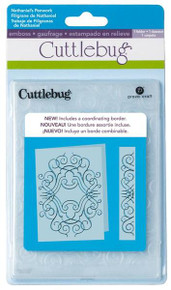 Cuttlebug 5x7 Nathaniel's Penwork EMBOSSING FOLDER AND BORDER SET 2001270