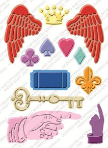 CUTTLEBUG VINTAGE COLLAGE Embossing Plus Folder Cuts and Embosses! 2000256