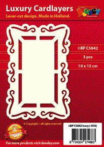 Luxury Cardlayers 3pc Window Frame C5842 Ivory Laser-Cut Card Accents Making