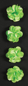 Fluerettes Fabric Flower Stickers Satin Green 4pc Per Pack Mark Richards | SKU: 10717