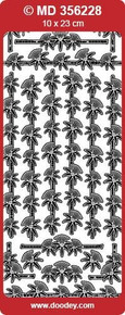 MD356228 Bamboo Borders Double Embossed Etched Asian Peel Stickers One 9x4 Sheet