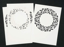 Luxury Cardlayers 3pc Ornaments Ivory 10x15cm Laser-Cut Card Accents Making