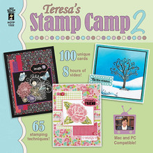 Teresa's STAMP CAMP 2 CD 1522 - 100 UNIQUE CARDS WITH VIDEOS! STAMPING CARD MAKING