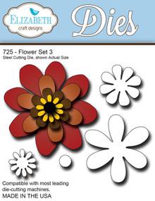 Elizabeth Craft Designs 725 Flower Set 3 Cutting Die