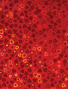 Hearts Holographic Red 4 sheets 8.5x11 Cardstock STUNNING!