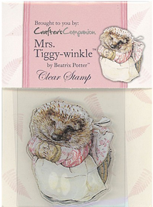 BEATRIX POTTER Clear Stamps MRS. TIGGY-WINKLE FULL-COLOR INDEX 2X3IN