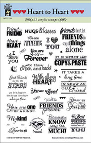 HOTP 33 Clear Stamps HEART TO HEART 1108 Acrylic