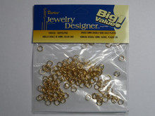 Darice 764496 Jewelry Designer Gold Plated Brass 6mm Double Jump Rings