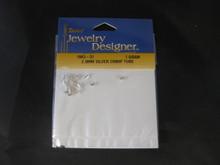 2.5mm Silver Tone Crimp Tubes 1Gram 1963-31  Darice Jewelry Designer