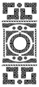 Peel Off Corner N08 silver ETCHED-LOOKING Outline Sticker