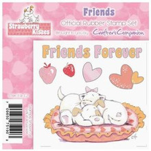 STRAWBERRY KISSES - FRIENDS FOREVER - EZMount Stamp Set KITTEN PUPPY