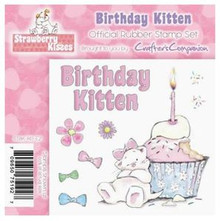STRAWBERRY KISSES - BIRTHDAY KITTEN - EZMount Stamp Set