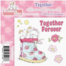 STRAWBERRY KISSES - TOGETHER - EZMount Stamp Set PUPPY KITTEN
