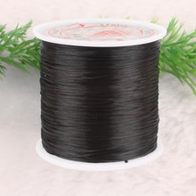 80m .5mm Strong Stretchy beading string BLACK elastic