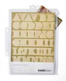 Belle Alpha Stickers Embellishments Kaiser Craft