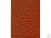 2pc 8.5x11 Gold Emboss Lace Red Vellum Paper Acid Free