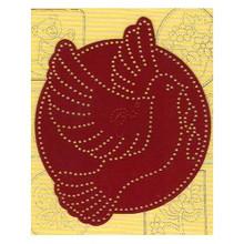 Ornare Pricking Stencil Template Small Dove PR0544