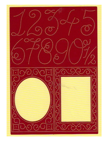 Ornare Pricking Stencil Template Numbers Frames