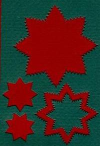 Spirelli Die Cuts GREEN & RED STARS  4059422